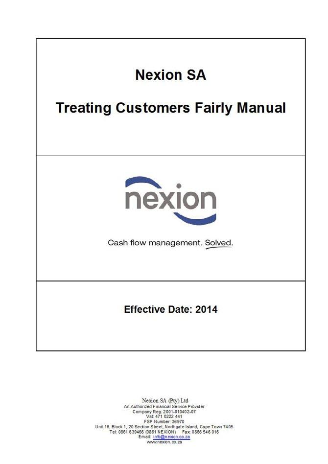 NEXION TCF Policy