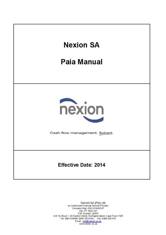 Nexion Paia Manual