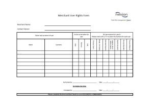 Nexion Merchant User Rights Form